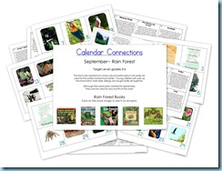 Rain Forest Calendar Connections