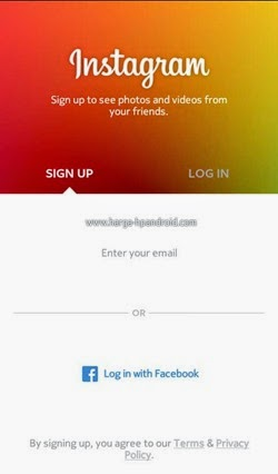 Daftar Instagram di Android
