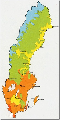 shrunken sweden map