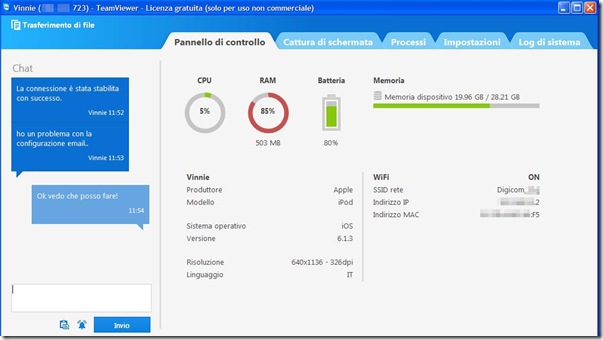 TeamViewer controllo remoto del celleulare da PC