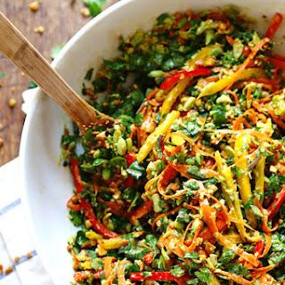 Chopped Thai Salad with Sesame Garlic Dressing.