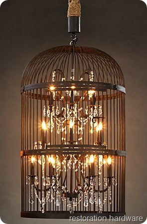 restoration hardware birdcage chandelier the thrifty way all things thrifty