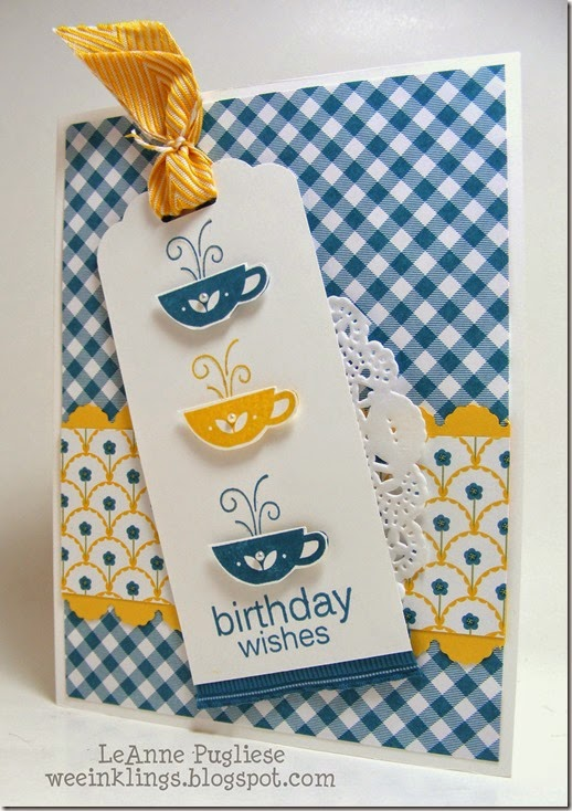 LeAnne Pugliese WeeInklings Paper Players 190 Kind and Cozy Birthday Stampin Up