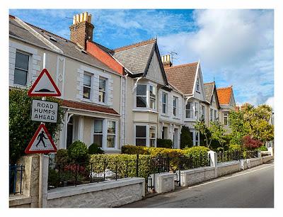 Guernsey - St. Peter Port - Häuserzeile
