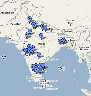 Location of NGOs that took the survey