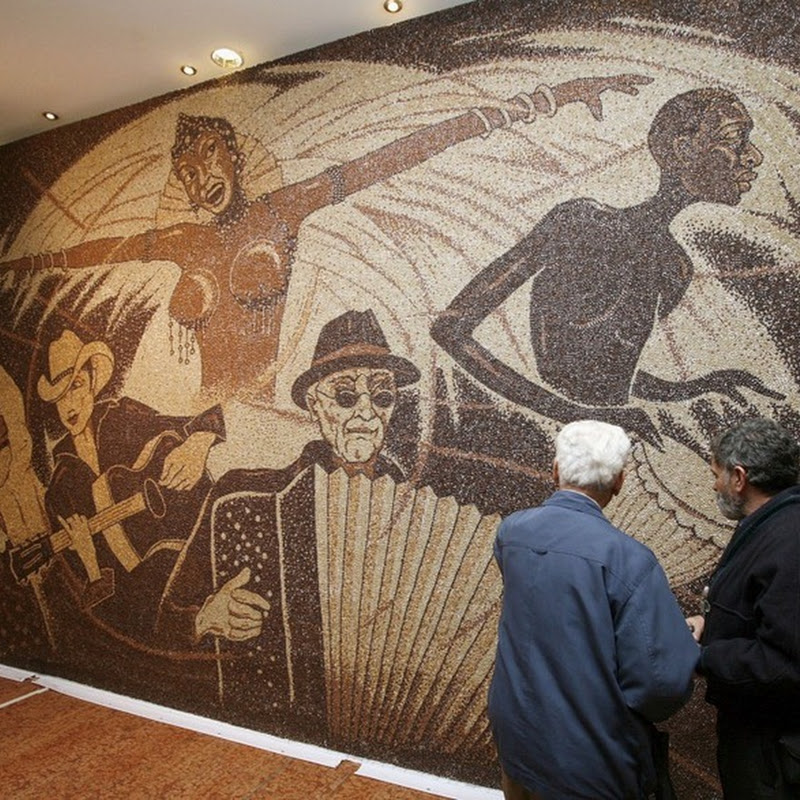 World's Largest Coffee Bean Mosaic