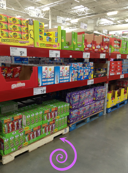 skittles and starburst at Sam's Club