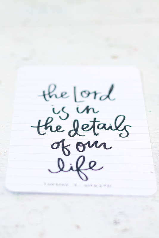 the Lord is in the details of our life