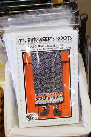 Ms. Bindweed's Boots Table Runner via The Fabric Mill Blog