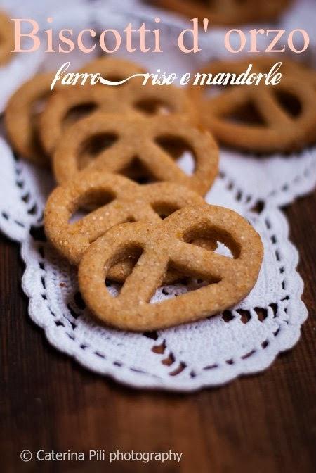 Biscotti d'orzo, farro ,riso