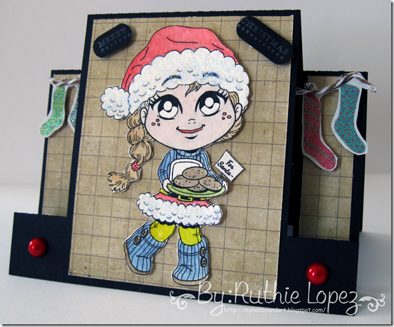 Kenny K digis - Santa Cookies - Center Step Card - Silhouette Cameo - 613 Avenue Create - Ruthie Lopez DT
