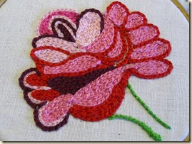Tambour Chain Stitch Rose 1