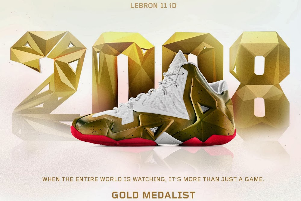 size 40 a409a c749b A Decade of Moments NIKEiD LeBron XI 8220Gold Medalist8221