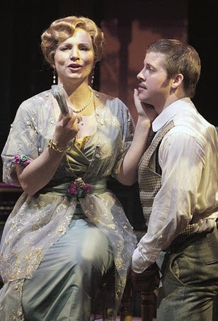 Jan Cornelius as the Countess and Christopher Bolduc as the poet Olivier in Richard Strauss's CAPRICCIO at the Academy of Vocal Arts, 2010 [Photograph by Paul Sirochman, © AVA]