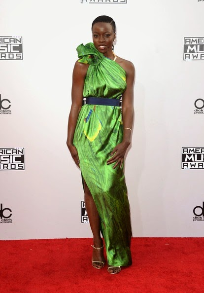 Danai Gurira attends the 2014 American Music Awards
