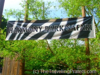 Harmony Safari Park sign