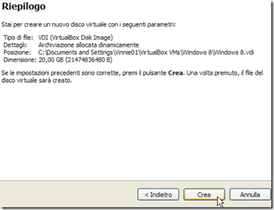 VirtualBox Riepilogo