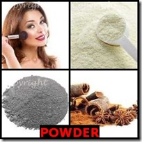 POWDER- 4 Pics 1 Word Answers 3 Letters
