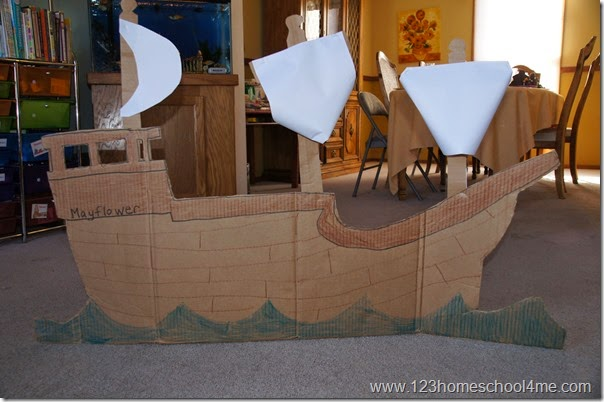 Mayflower Boat out of Cardboard Box