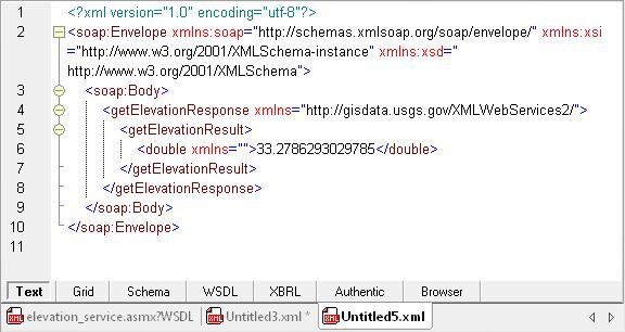 SOAP response viewed in XMLSpy
