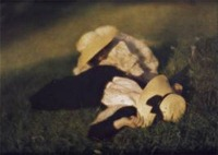 Heinrich Kühn, Miss Mary and Edeltrude Lying in the Grass, ca. 1910,