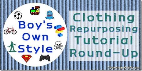 Boys Own Style Clothing Repurposing Tutorial Round Up