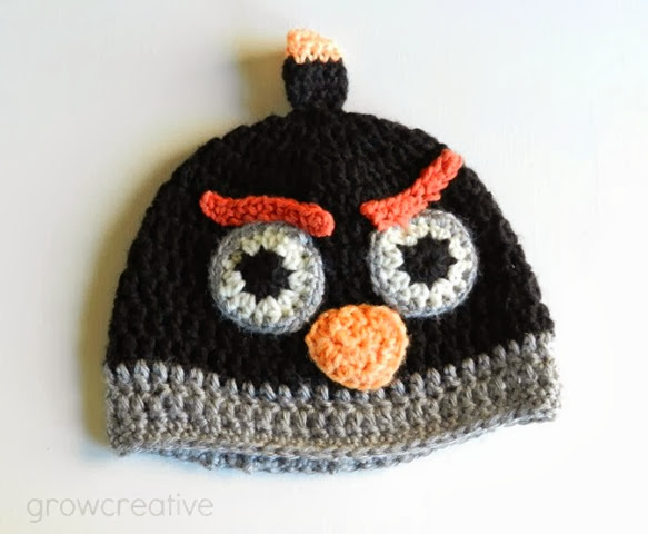 angry birds crochet hat pattern