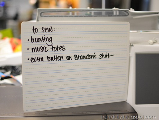 dry erase board for to-do list