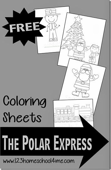 FREE Polar Express Coloring pages #coloringpages #preschool- these super cute Christmas themed coloring sheets are lots of fun for toddler, preschool, prek, kindergarten, first grade, 2nd grade to improve fine motor skills during December.