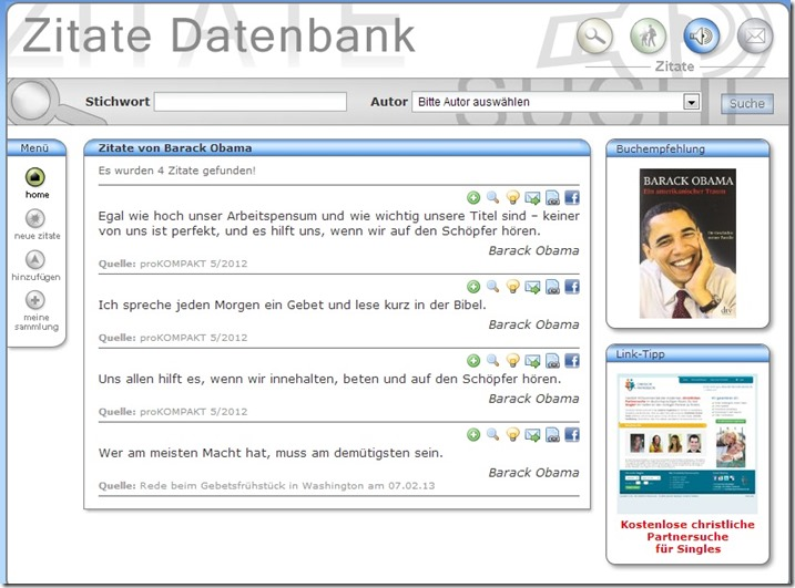 Gebetszitate Obama