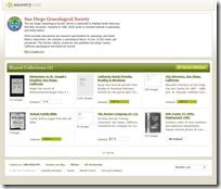 通过Ancestry.com内容出版商出版的San Diego系谱学会集合