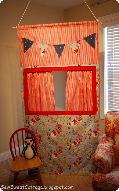 Sew Sweet Cottage Fabric Puppet Theatre