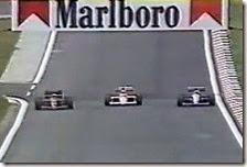 Il sorpasso di Mansell a Senna