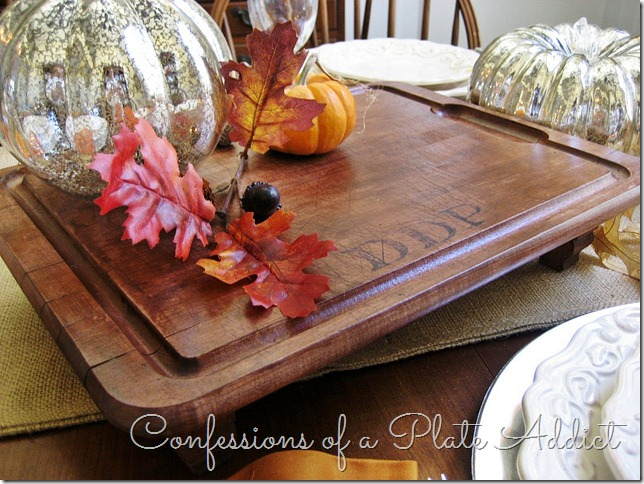 CONFESSIONS OF A PLATE ADDICT Monogrammed Serving Board