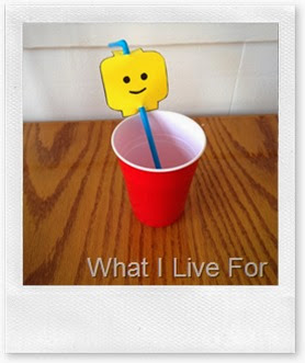 LEGO Head straw topper @ whatilivefor.net