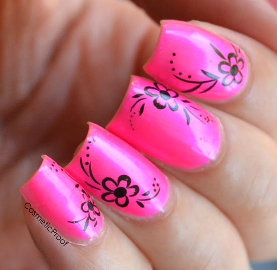 Doll Face Brand Nail Polish in Pisces Pink with Nail Decals