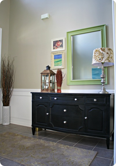dresser in entry foyer