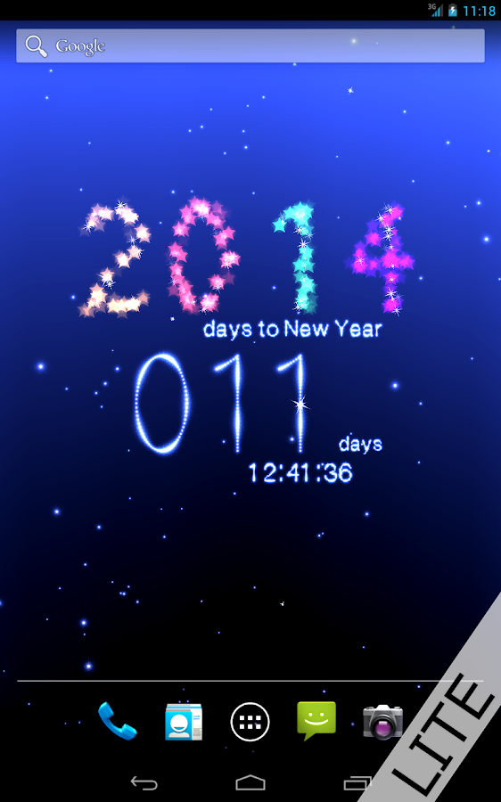 New Year Countdown 2014 Free - screenshot