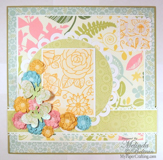 sugar spice cricut close to my heart layout idea-500