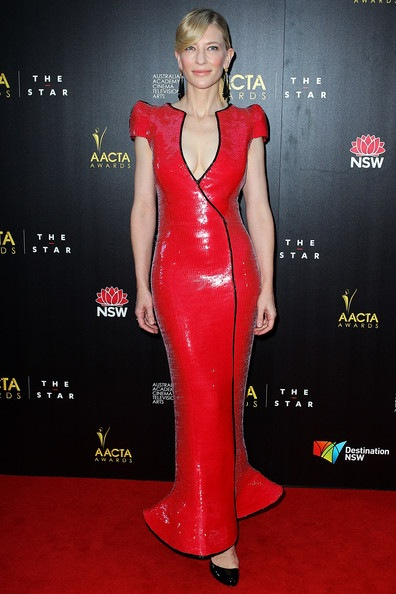 Cate Blanchett arrives at the 2nd Annual AACTA Awards