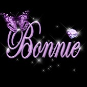 Bonnie and butterfly sticker