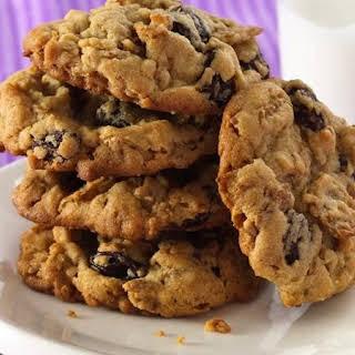 Peanut Butter-Raisin Bran Cookies.