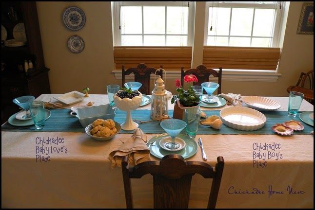 Beach table at Chickadee Home Nest