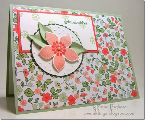 LeAnne Pugliese WeeInklings Cantaloupe Flower Patch Stampin Up
