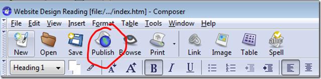 Click the Publish icon