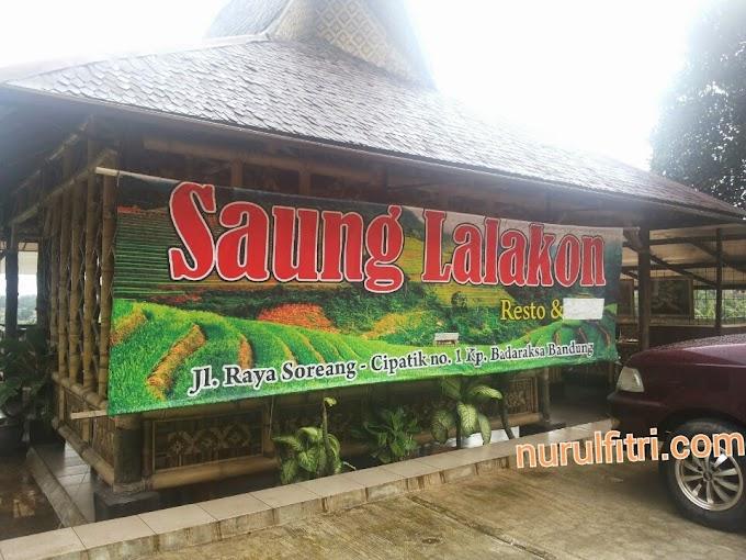 Kulineran di Saung Lalakon Soreang