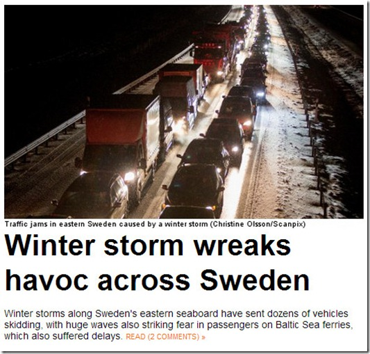 Sweden winter storm