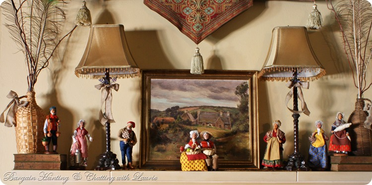 Santons on Mantel-Bargain Hunting w/Laurie