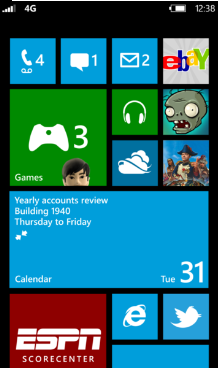 New Start Screen of WP8 and WP7.8