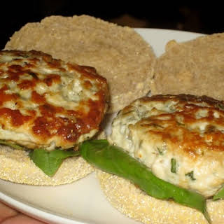 Chicken and Blue Cheese Burgers.